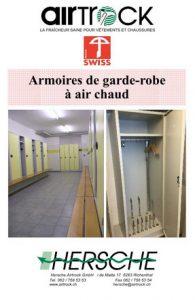 Catalogues de produits Hersche Airtrock armoires vestiaires à air chaud
