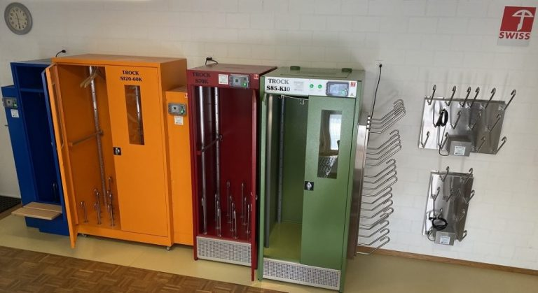 Hersche Airtrock sèche-chaussures et sèche-vêtements salle de demonstration