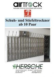 Produktkatalog Hersche Airtrock Schuhtrocknungssysteme