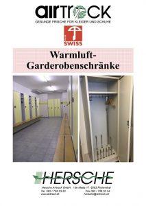 Produktkatalog Hersche Airtrock Warmluftgarderobenschränke